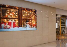 Праздничная реклама премиум-класса на коммерческих дисплеях LG